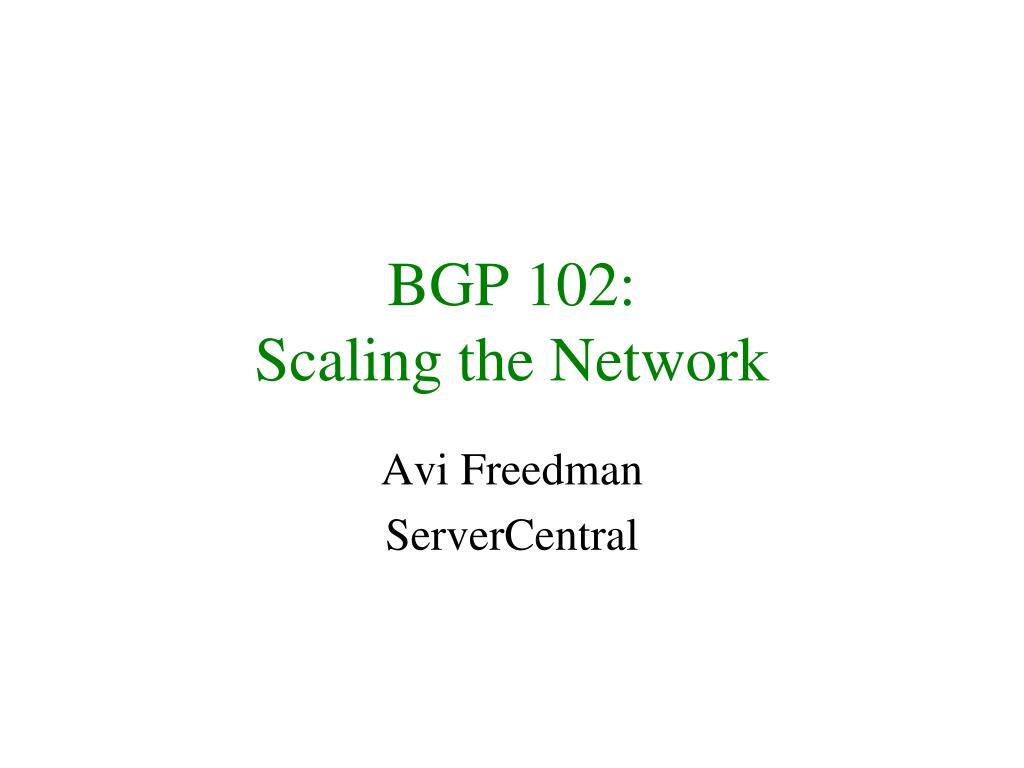 BGP 102: