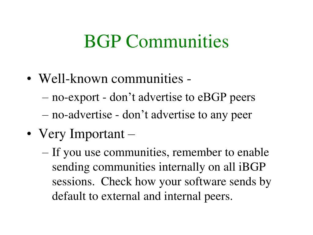 BGP Communities