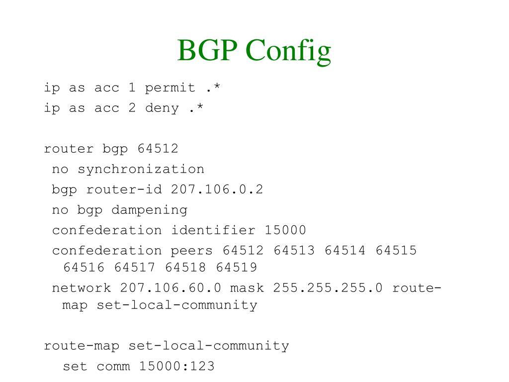 BGP Config