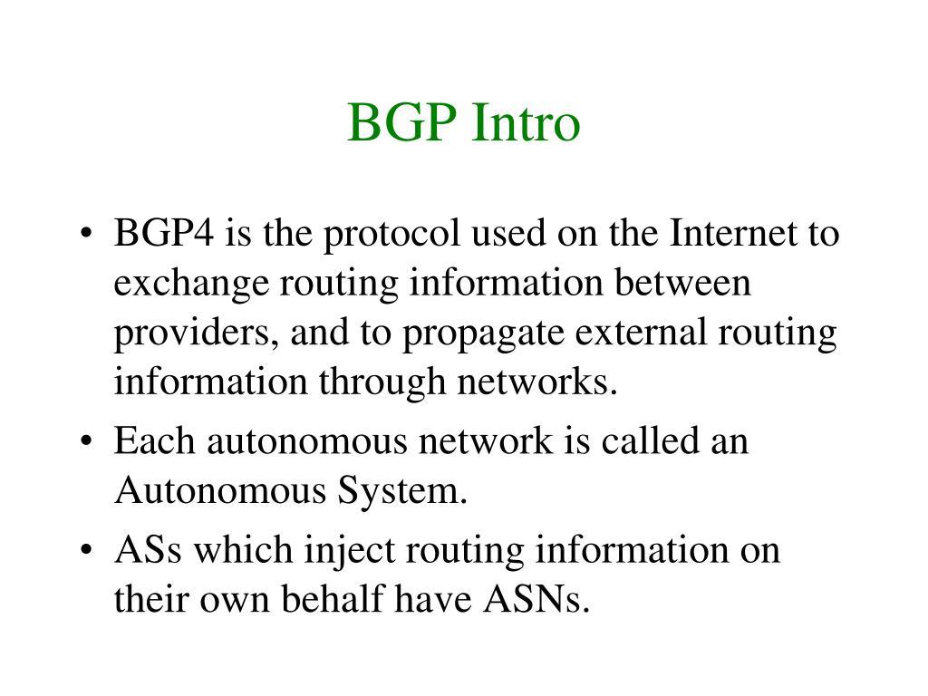 BGP Intro