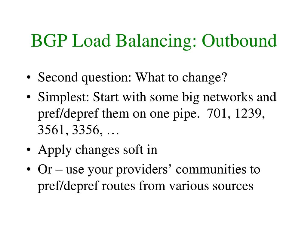 BGP Load Balancing: Outbound