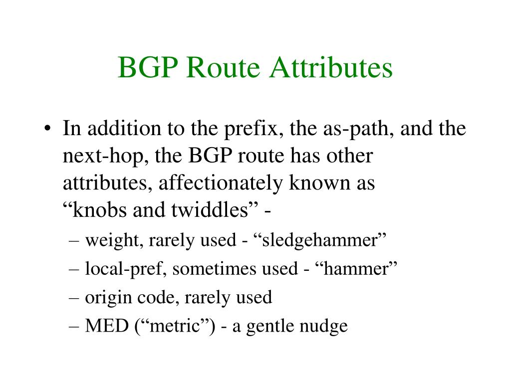 BGP Route Attributes