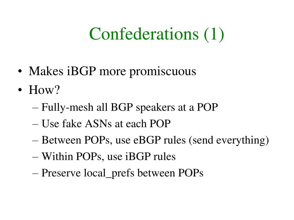 Confederations (1)