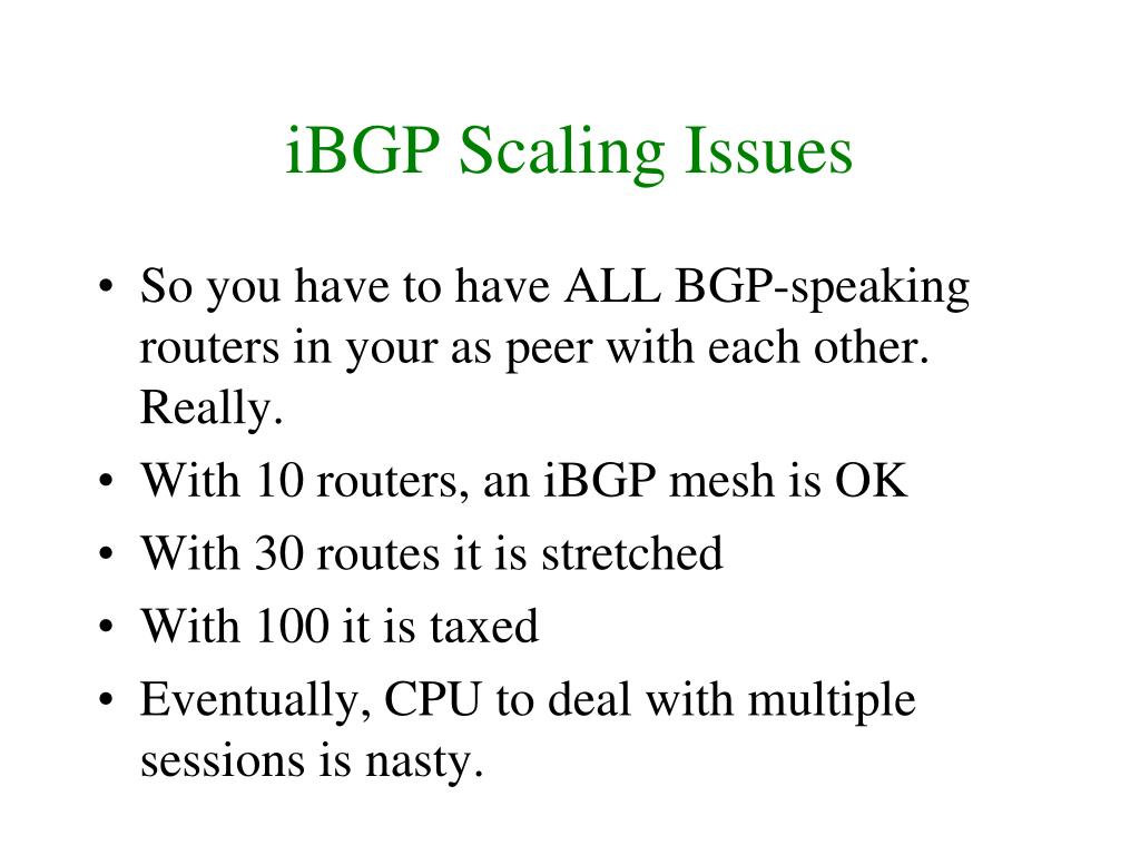 iBGP Scaling Issues