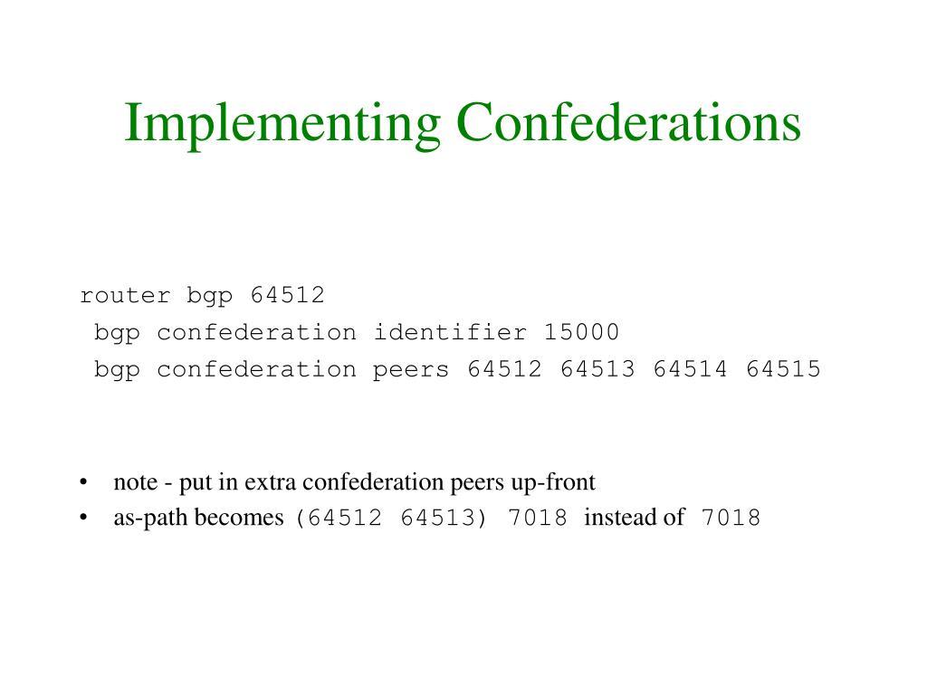 Implementing Confederations