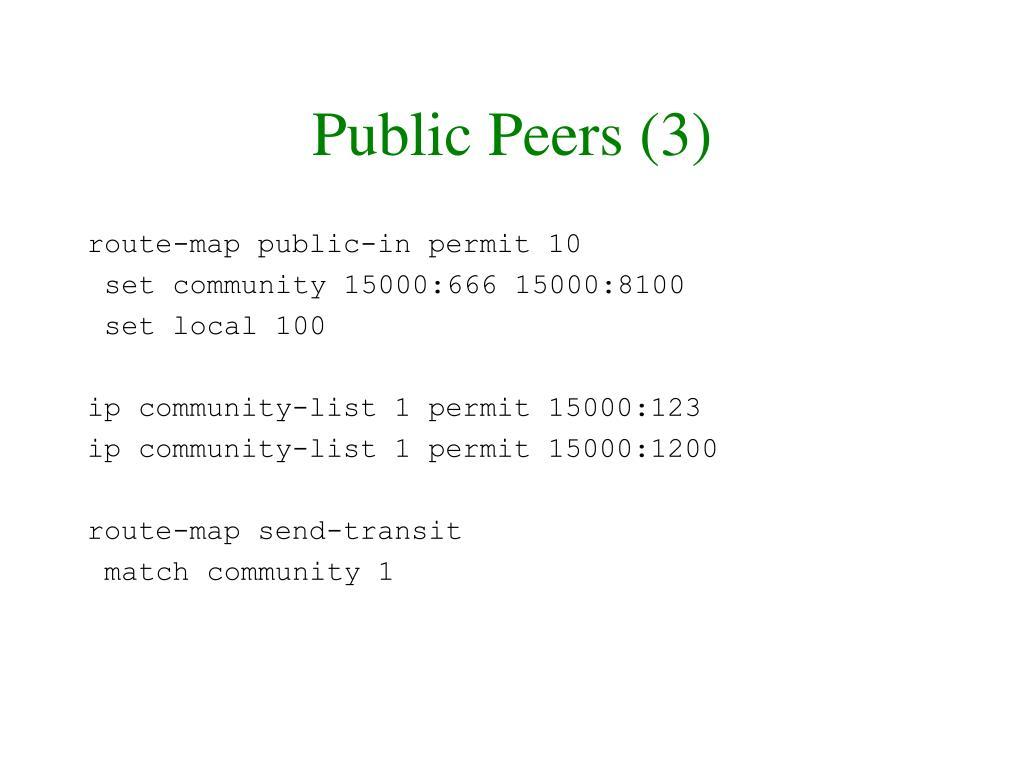 Public Peers (3)