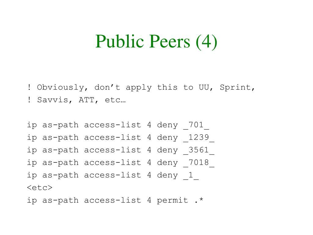 Public Peers (4)
