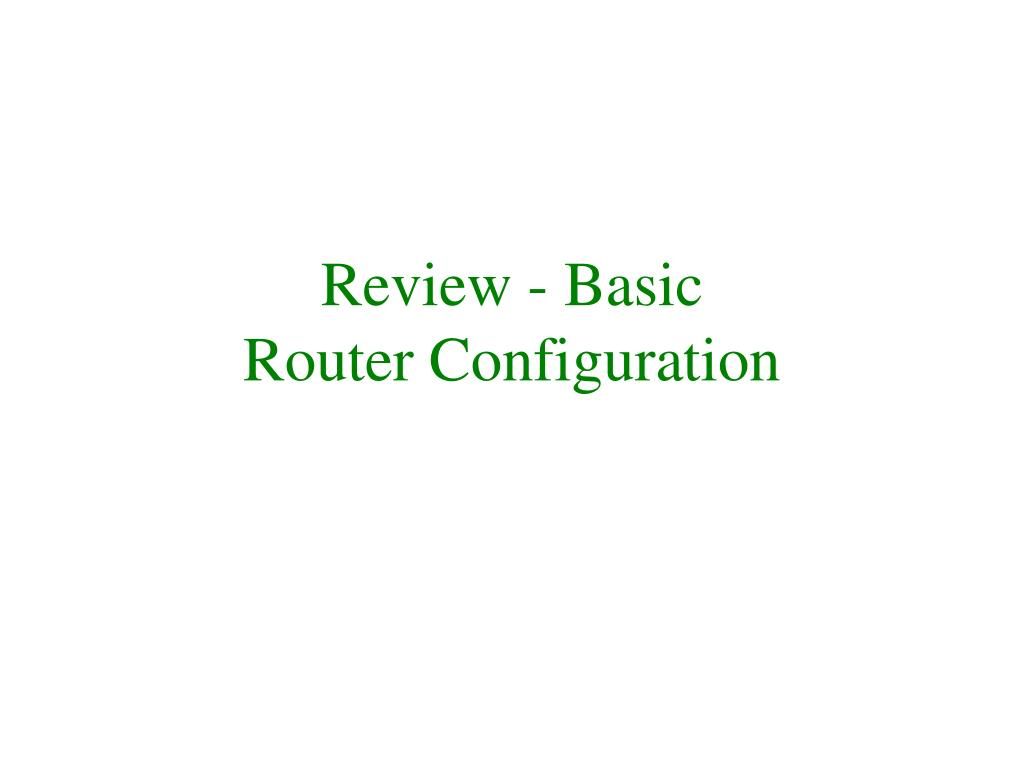 Review - Basic