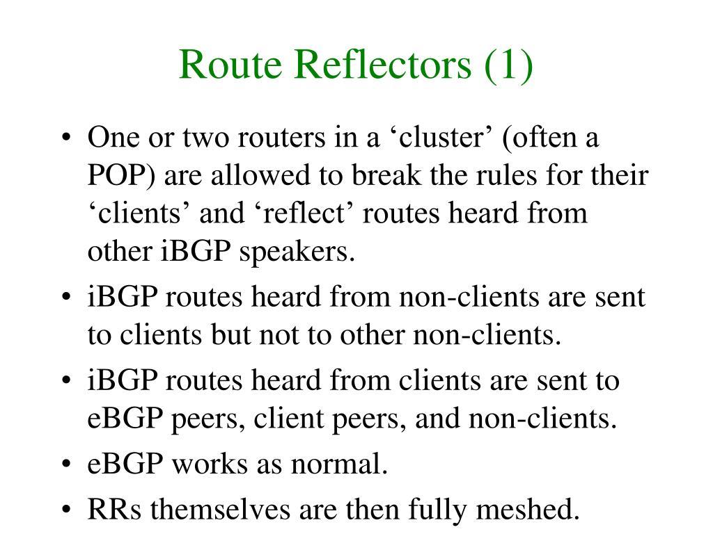 Route Reflectors (1)