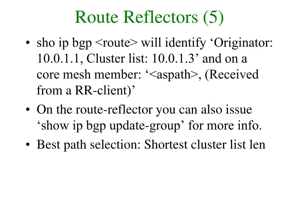 Route Reflectors (5)