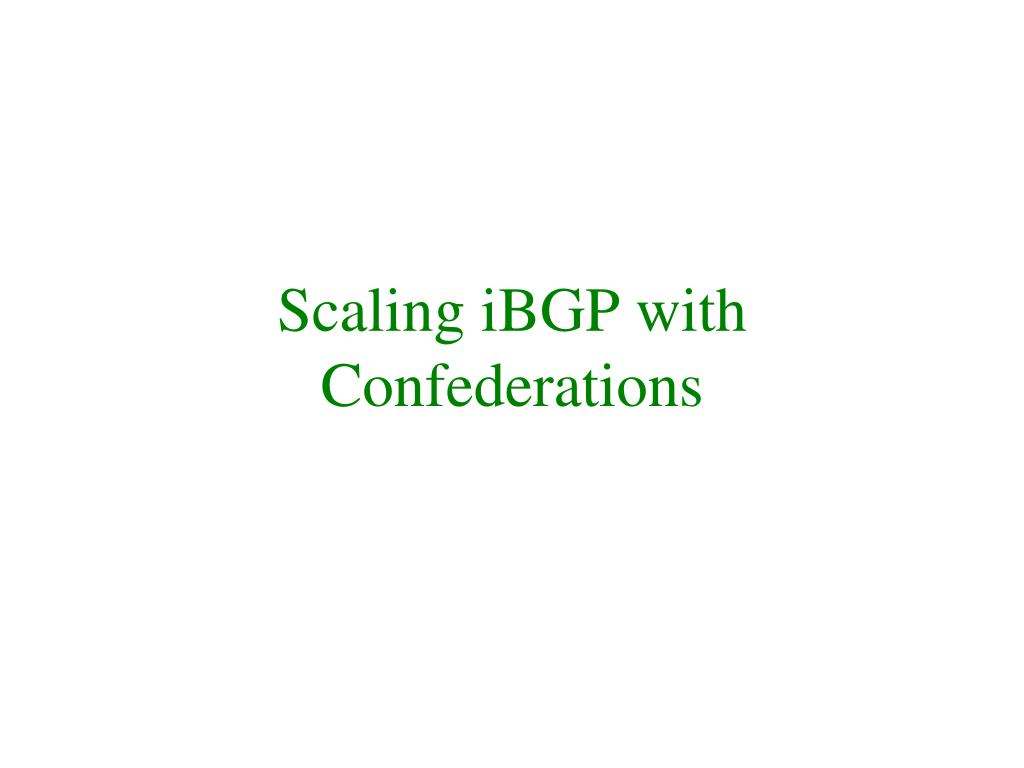 Scaling iBGP with