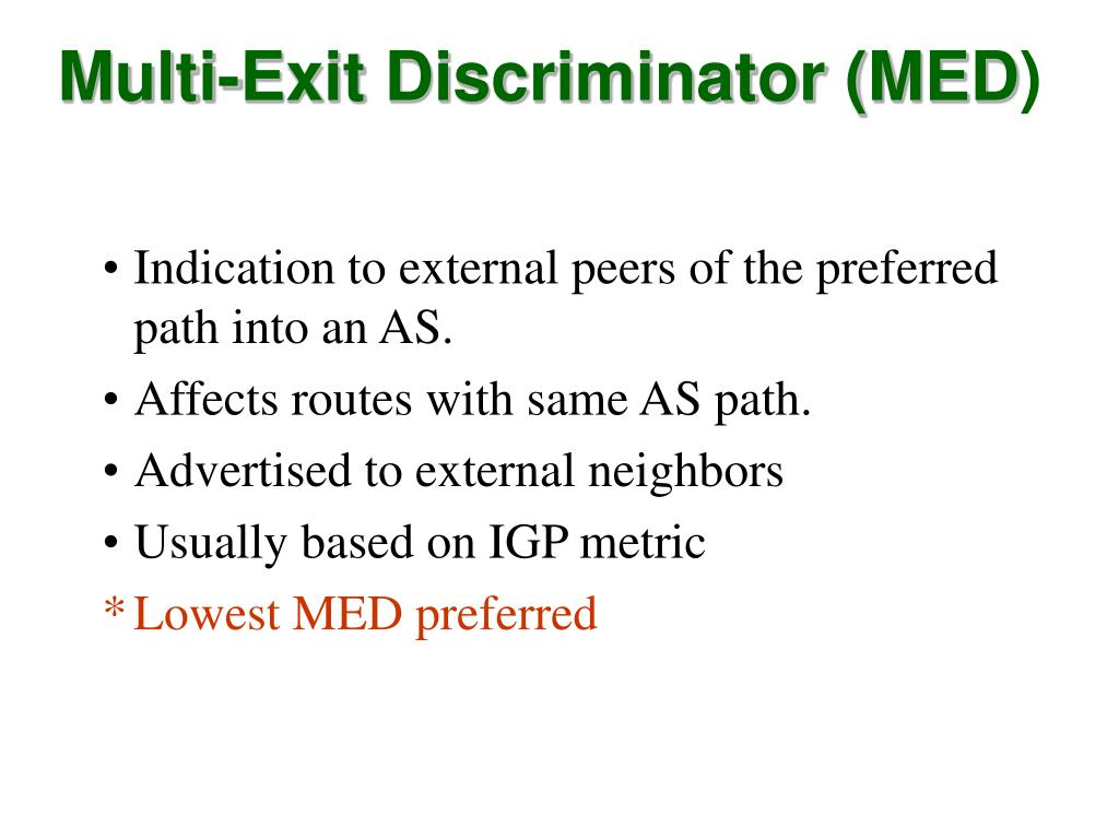 Multi-Exit Discriminator (MED