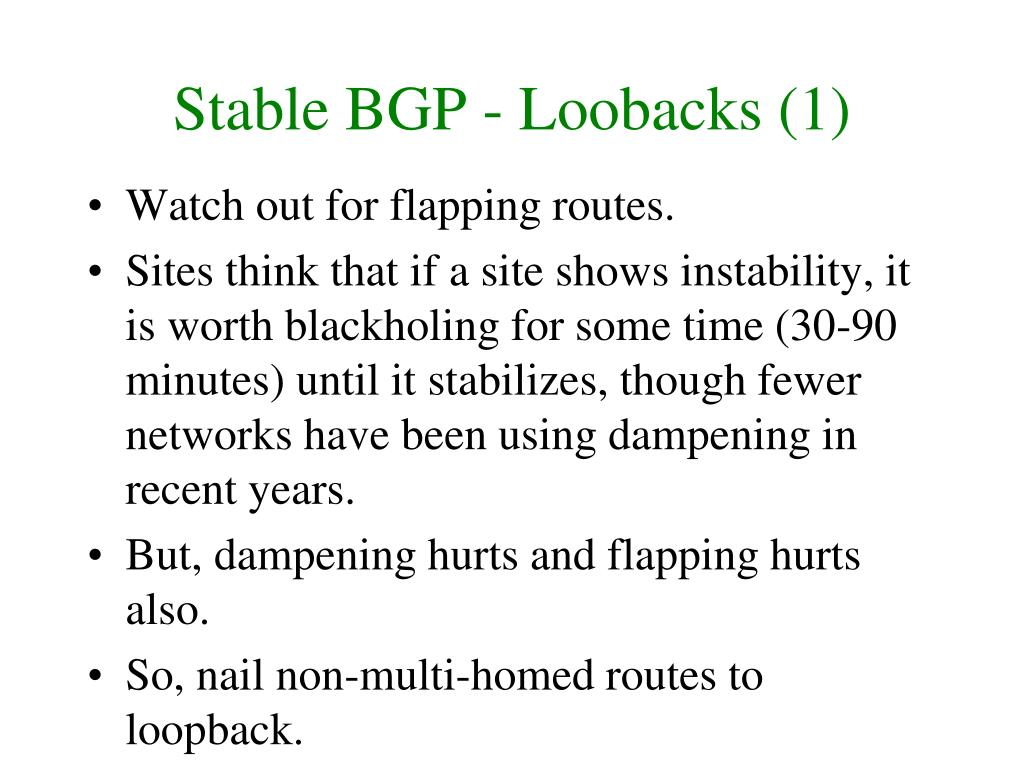 Stable BGP - Loobacks (1)