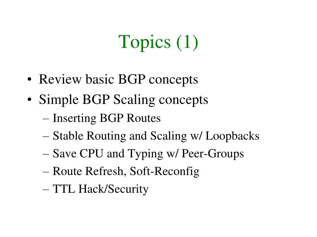 Topics (1)