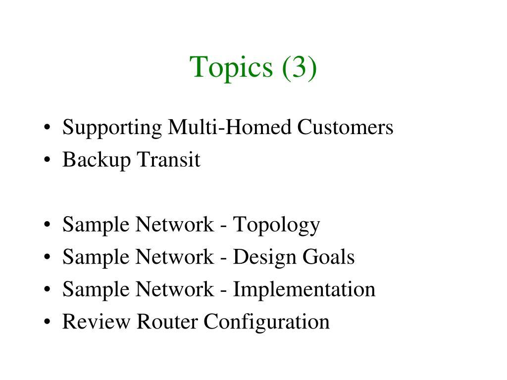 Topics (3)
