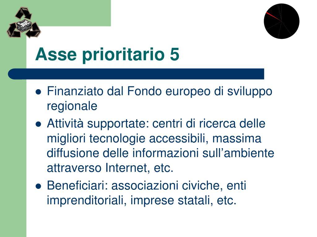 Asse prioritario 5