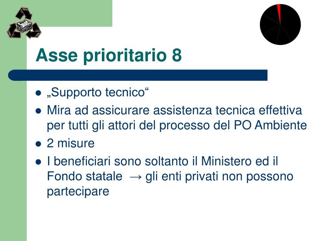 Asse prioritario 8