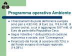programma operativo ambiente5
