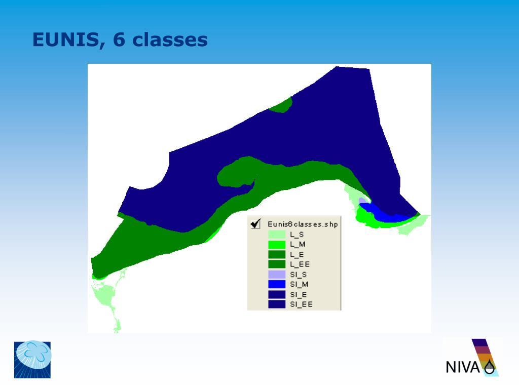 EUNIS, 6 classes