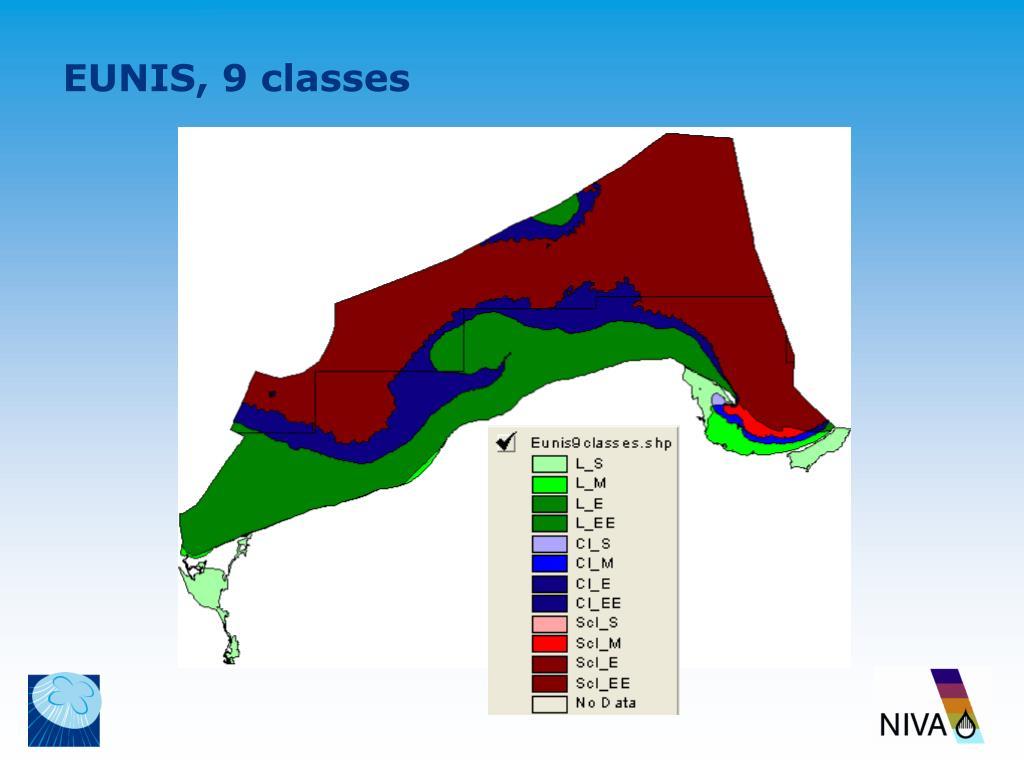EUNIS, 9 classes