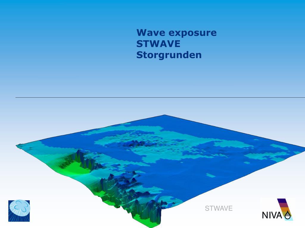 Wave exposure STWAVE Storgrunden