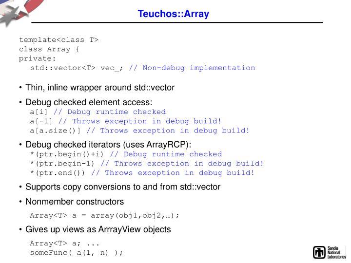 Teuchos::Array