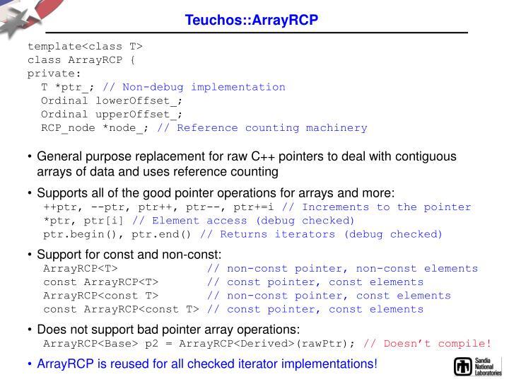 Teuchos::ArrayRCP