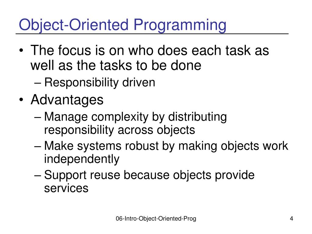 object oriented programming and recommendation summary conclusion Cognitively flexible hypertext in an object-oriented programming course: summary, discussion, and recommendations conclusions.