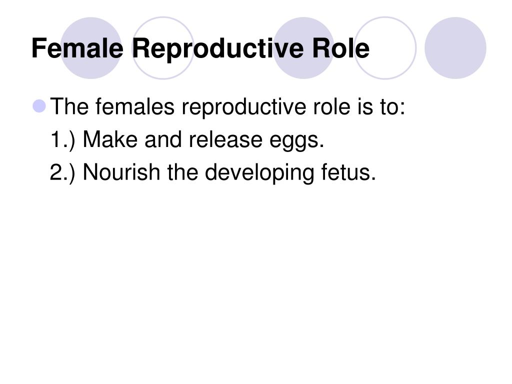 Female Reproductive Role