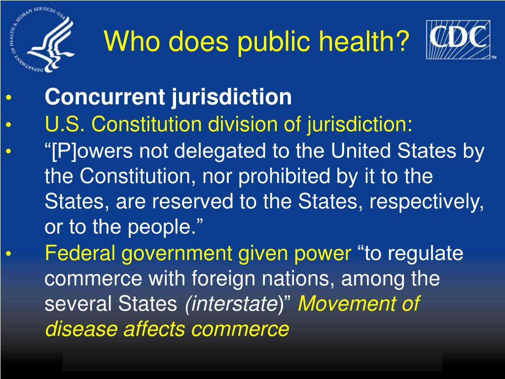 Who does public health?