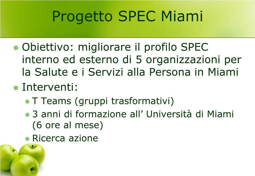 Progetto SPEC Miami