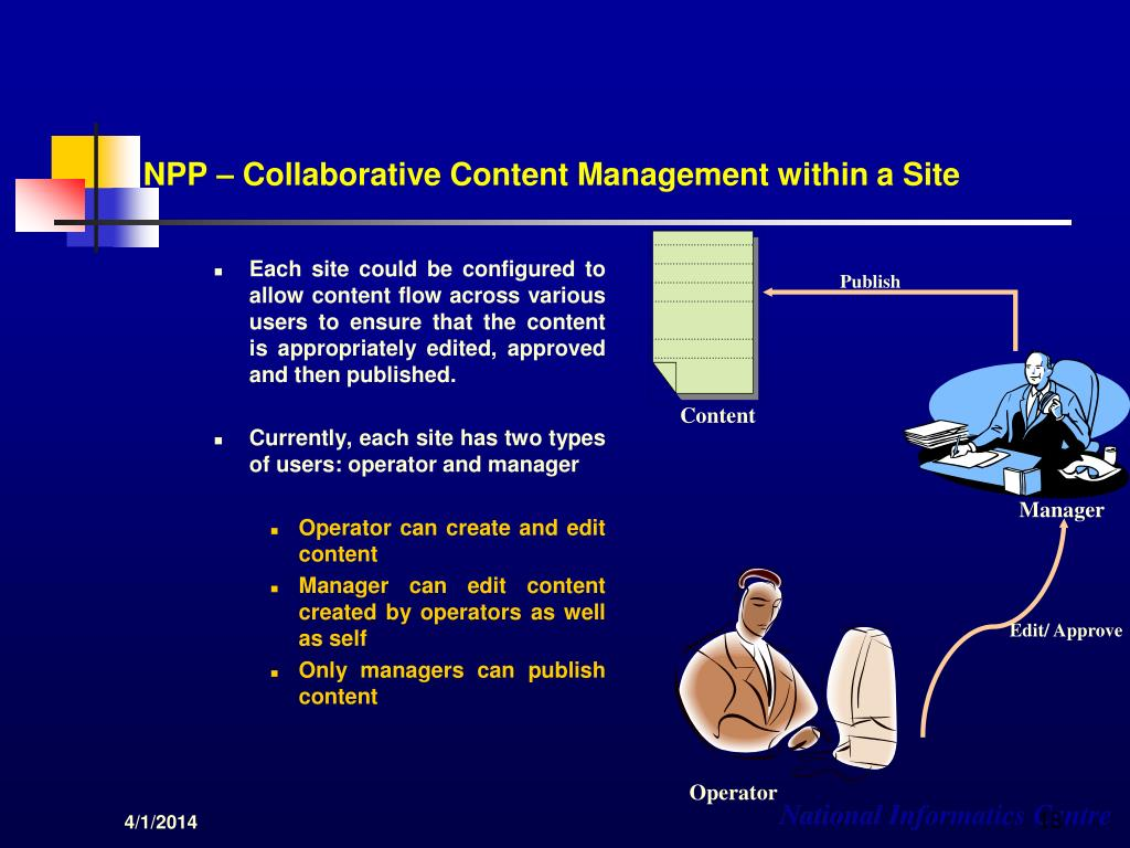 NPP – Collaborative Content Management within a Site