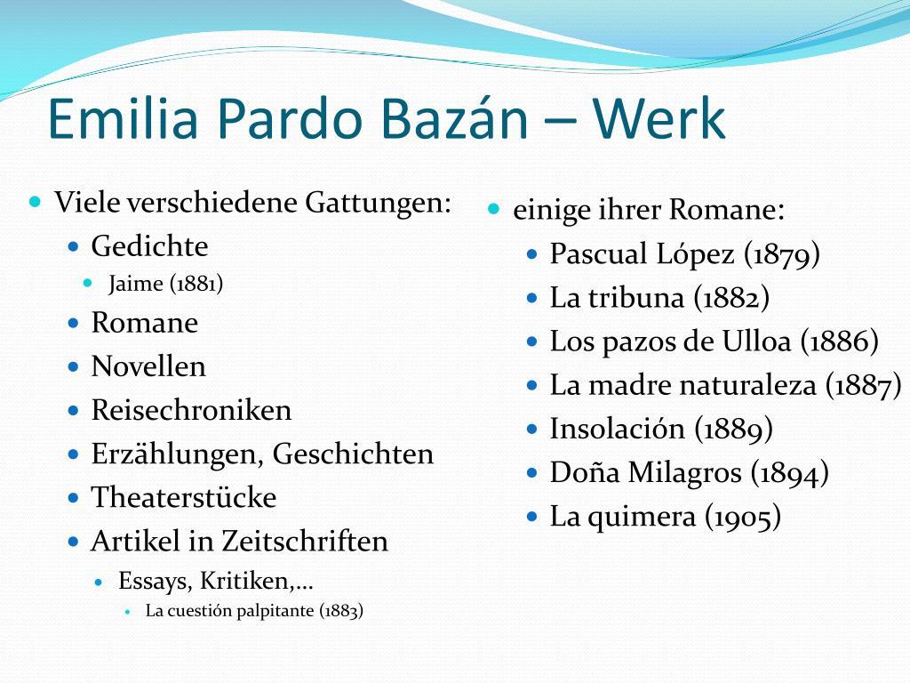 Emilia Pardo Bazán –