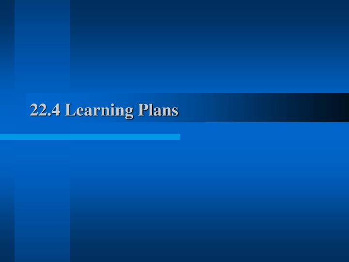 22.4 Learning Plans
