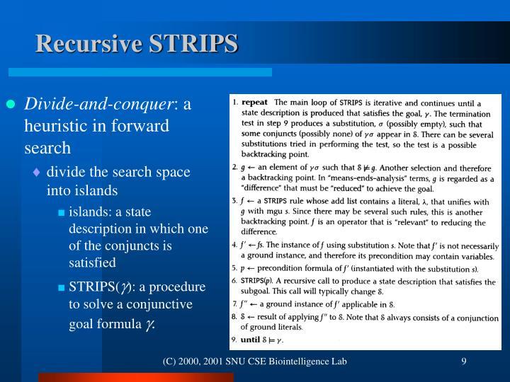 Recursive STRIPS