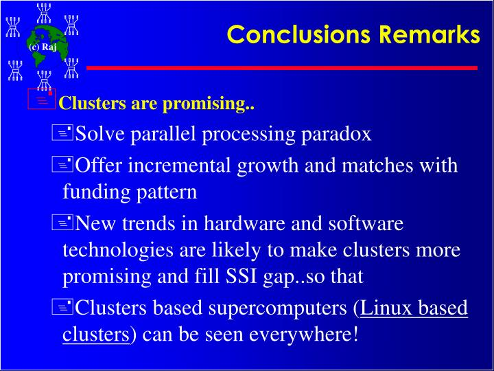 Conclusions Remarks