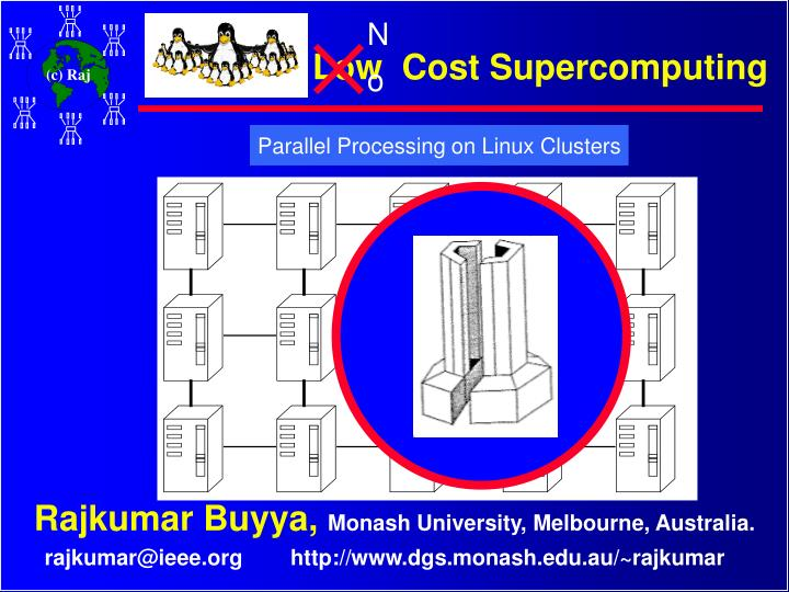 Low cost supercomputing