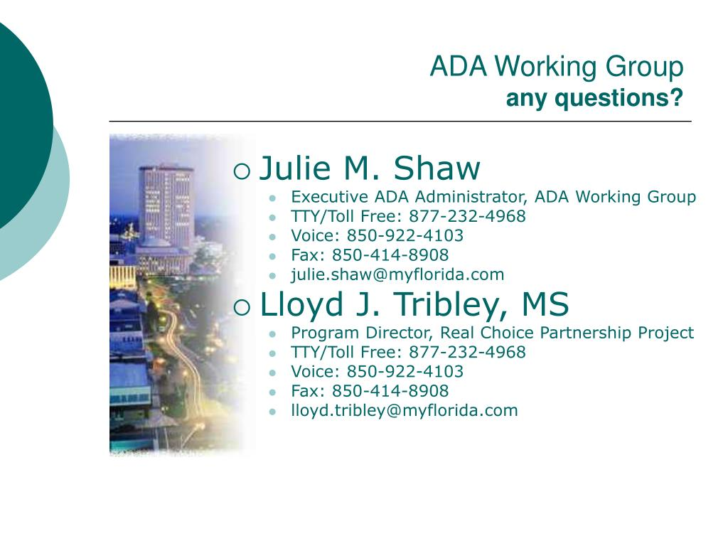 ADA Working Group