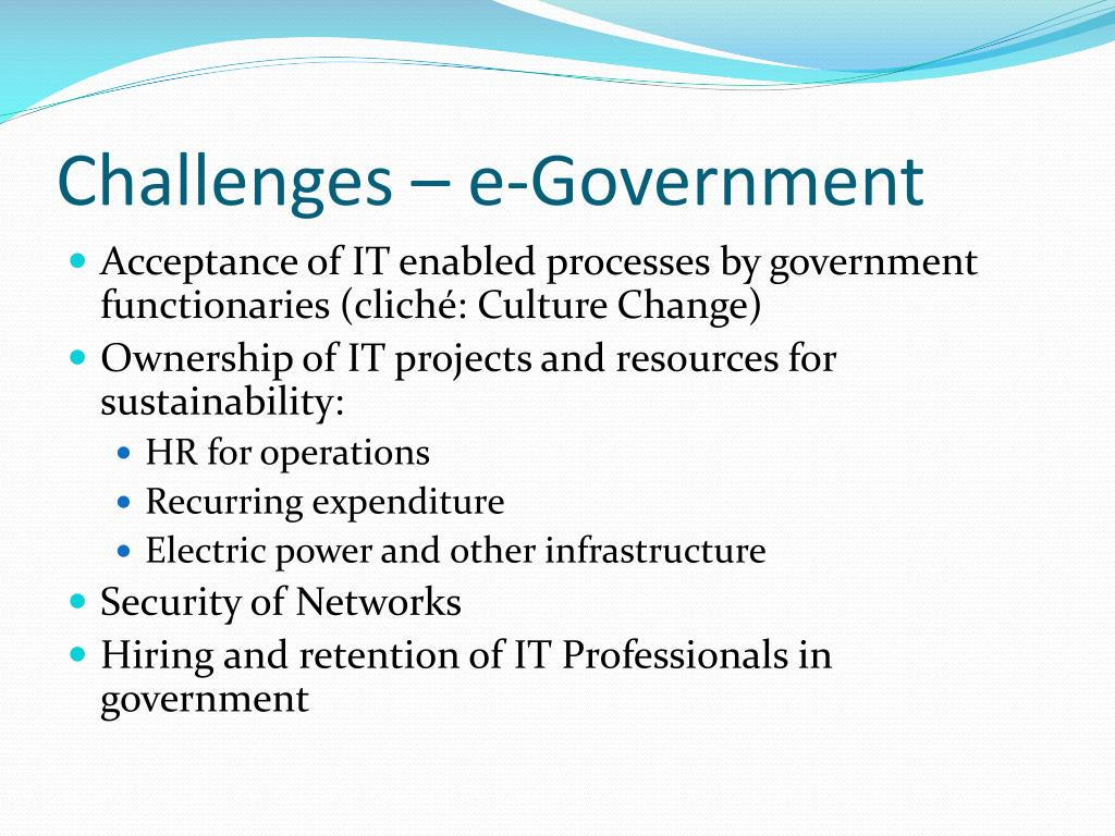Challenges – e-Government