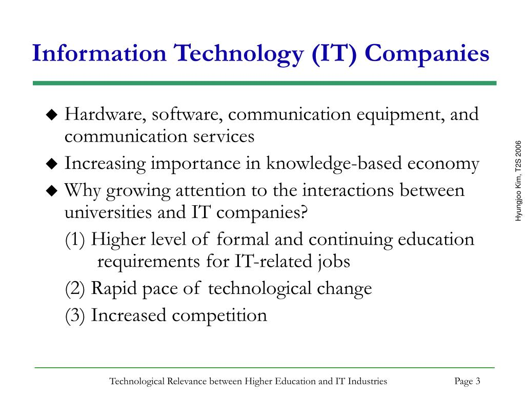 Information Technology (IT) Companies