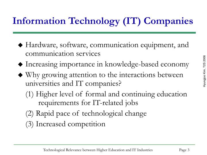 Information technology it companies