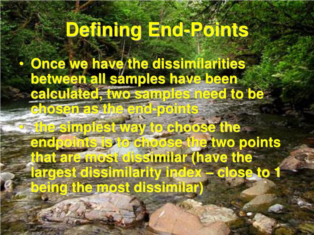 Defining End-Points