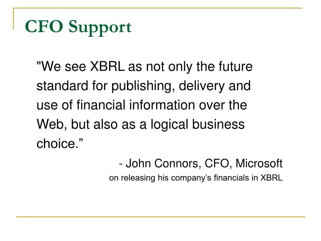 CFO Support