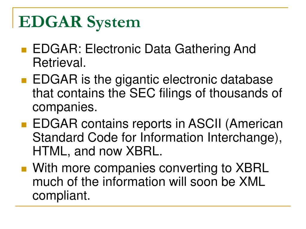 EDGAR System