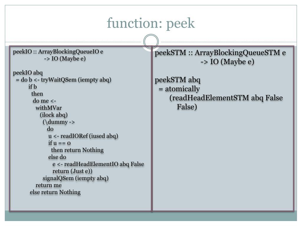 function: peek