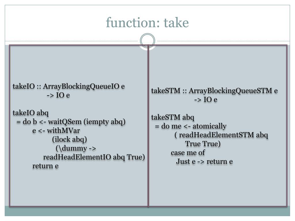 function: take