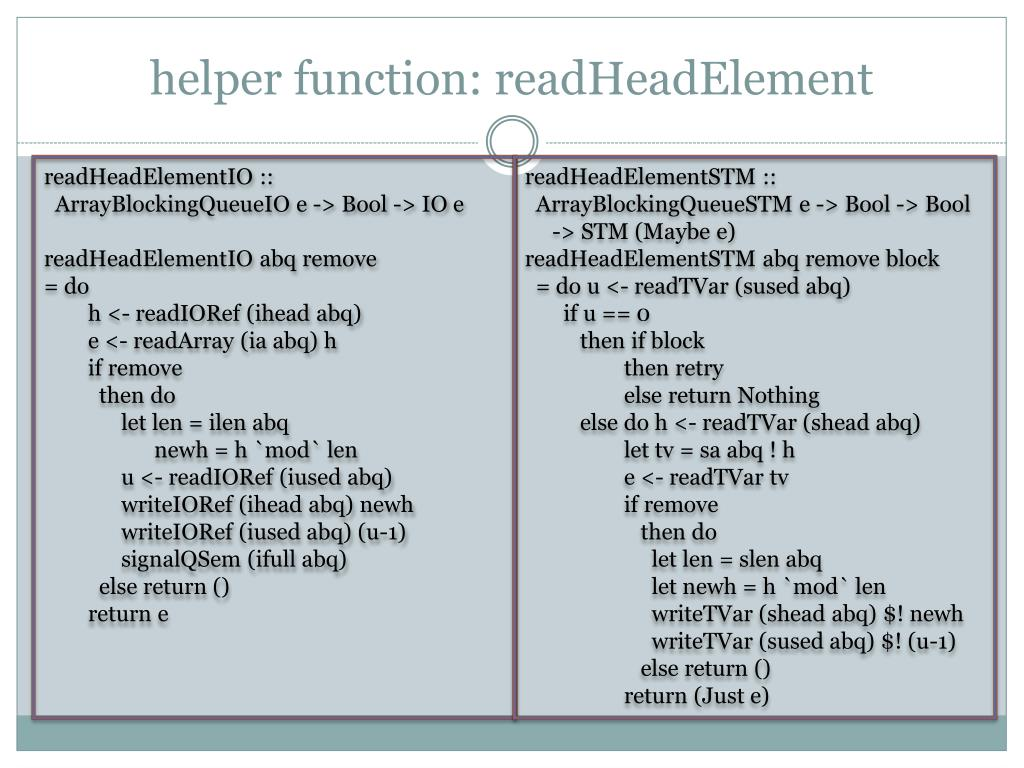 helper function: readHeadElement