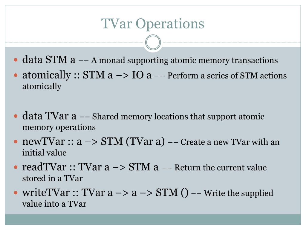 TVar Operations