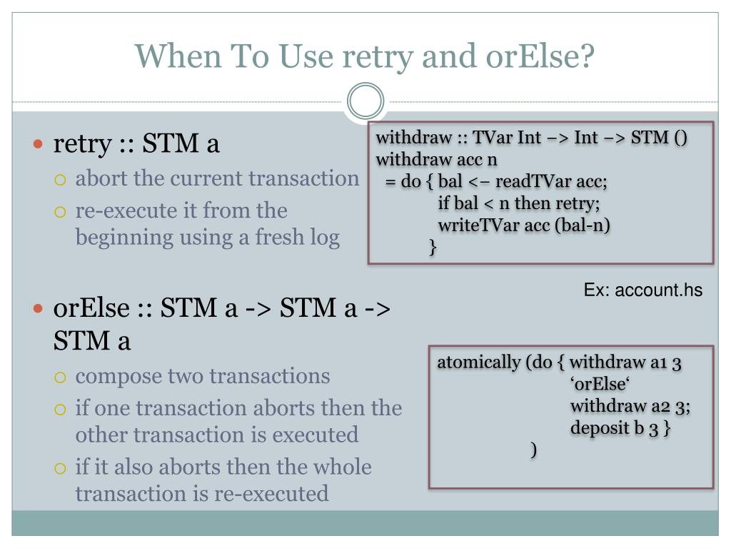 When To Use retry and orElse?