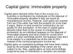 capital gains immovable property